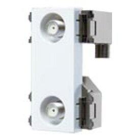 パナソニック 配線金具 埋込高シールドテレビコンセント2端子 送り配線用(電流通過形)(10〜3224MHz)(ホワイト) WCS4821W