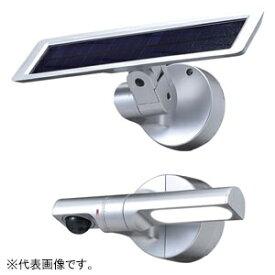 OPTEX ソーラー式LEDセンサライト センサ調光型 照射角度85°サークル 白色LED 防噴流形 ブラック LS-10(BL)