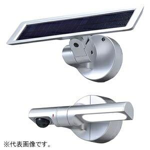 OPTEX ソーラー式LEDセンサライト センサ調光型 照射角度85°サークル 白色LED 防噴流形 シルバー LS-10(S)