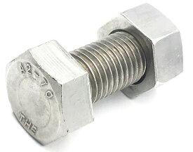 (JA)付属書品 ステンレス(SUS304J3) A2-70強度保証 六角ボルト(全ねじ)+六角ナット(1種) 2点セット M6×12L(並目P=1.0)