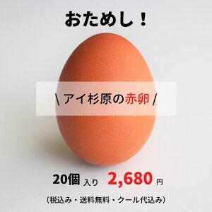 おためし!【アイ杉原の赤卵20個】(生卵15個+破損保証5個)この卵、ハマります!とくしま特選ブランド認定品!安心の「クール便」配送徳島県産 朝採り 産みたて 農場直送!しかも送料無料