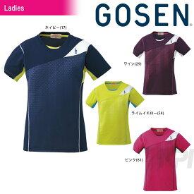 「2017モデル」GOSEN(ゴーセン)「Women's レディース ゲームシャツ T1613」テニスウェア「2016FW」【prospo】[ポスト投函便対応]