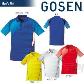 【対象3店舗買いまわり最大10倍+エントリーで全品ポイント10倍】GOSEN(ゴーセン)「UNI ゲームシャツ T1700」テニスウェア「2017SS」【KPI】[ポスト投函便対応]