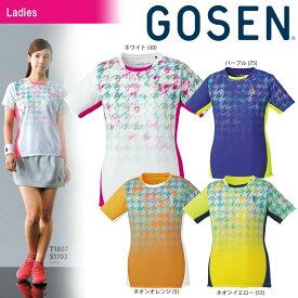 ゴーセン GOSEN テニスウェア レディース ゲームシャツ T1807 2018SS[ポスト投函便対応]