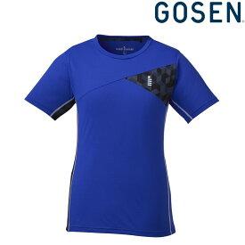 【エントリーでポイント10倍】ゴーセン GOSEN テニスウェア レディース ゲームシャツ T1821 2018FW[ポスト投函便対応]