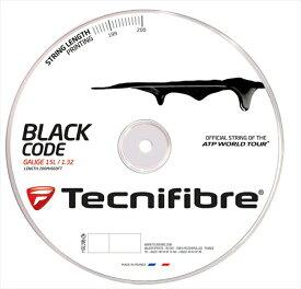『即日出荷』「新パッケージ」Tecnifibre(テクニファイバー)「BLACK CODE(ブラックコード) 200mロール TFR506」硬式テニスストリング(ガット)【prospo】「あす楽対応」