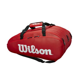 【エントリーでポイント10倍▼〜10/1 9:59】「あす楽対応」ウイルソン Wilson テニスバッグ・ケース TOUR 3 COMP RED ラケットバッグ(ラケット15本収納可能) WRZ847915 『即日出荷』