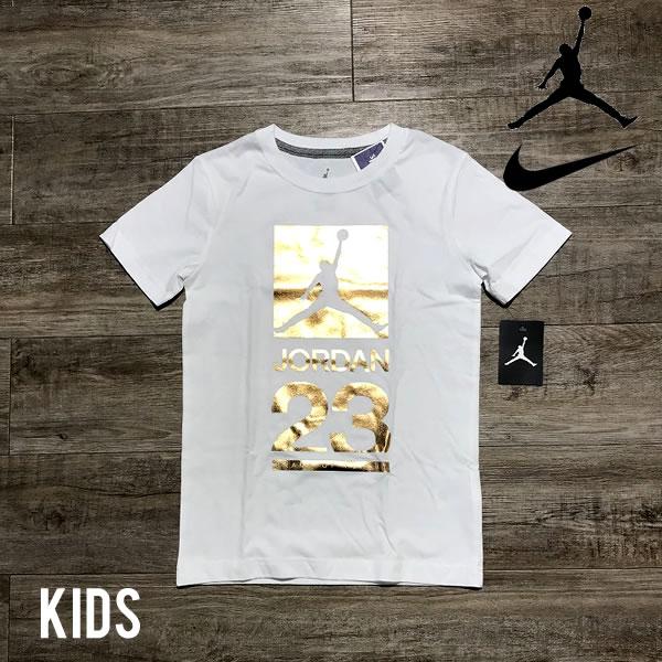 ナイキ 海外モデル エアジョーダン ボーイズサイズ Tシャツ NIKE AIR JORDAN 【1784517639-wht】【選べる福袋対象B】