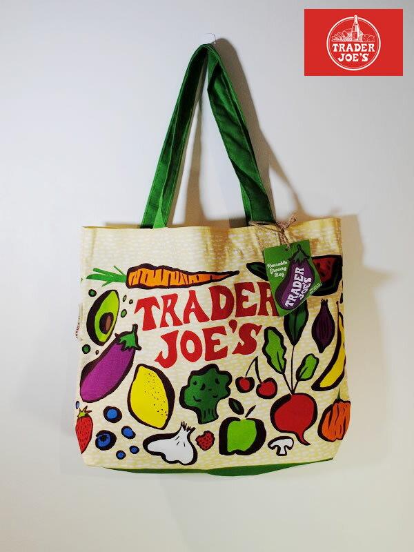 【トレーダージョーズ(Trader Joe's)】オリジナル コットン エコバッグ /トートバッグ【tjp004-green】