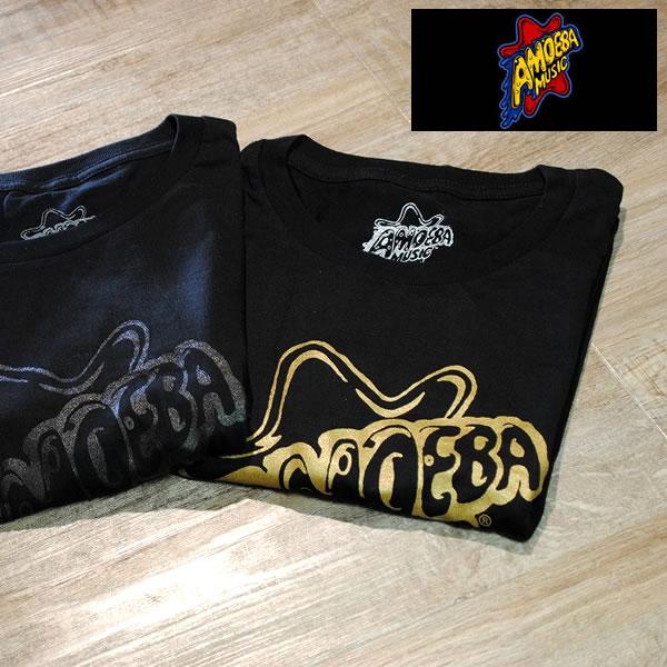 【Amoeba Music(アメーバミュージック)】 BLACK LOGO T-SHIRT/オリジナル コットン ロゴTシャツ■2カラー【amm002-all】