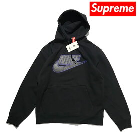 Supreme Nike Leather Applique Hooded Sweatshirt シュプリーム ナイキ レザー ロゴ フーディーズ パーカー【193151382696-blk】