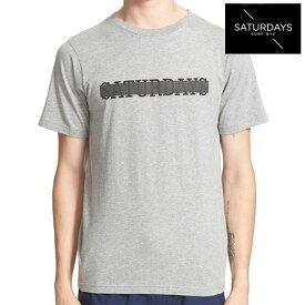 Saturdays Surf NYC(サタデーズサーフ ニューヨーク)Transparent Slab Tee/グラフィック Tシャツ/カラー:GREY HEATHER 【814224027596-grey】