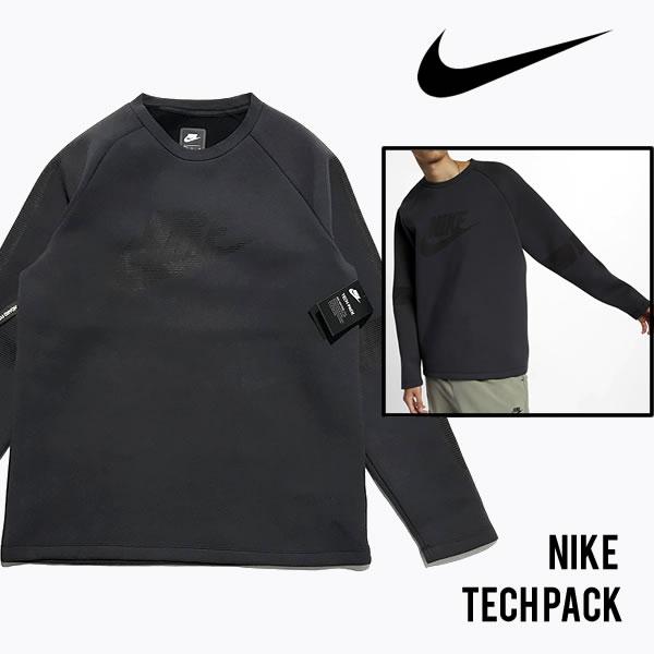 NIKE TECH PACK ナイキ 海外モデル テックパック クルーネック スウェットシャツ 【9188652744-blk】【選べる福袋対象商品A】