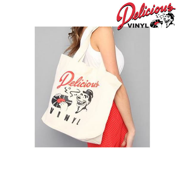 デリシャスヴァイナル オリジナルトートバッグ Delicious Vinyl canvas bag / del001-white