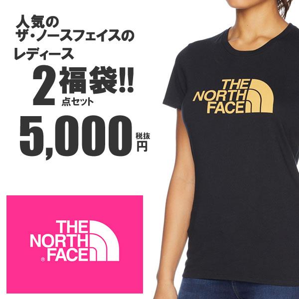 The North Face ノースフェイス US企画 レディース Tシャツ 2枚セット福袋 【お一人様一点限り】ad914