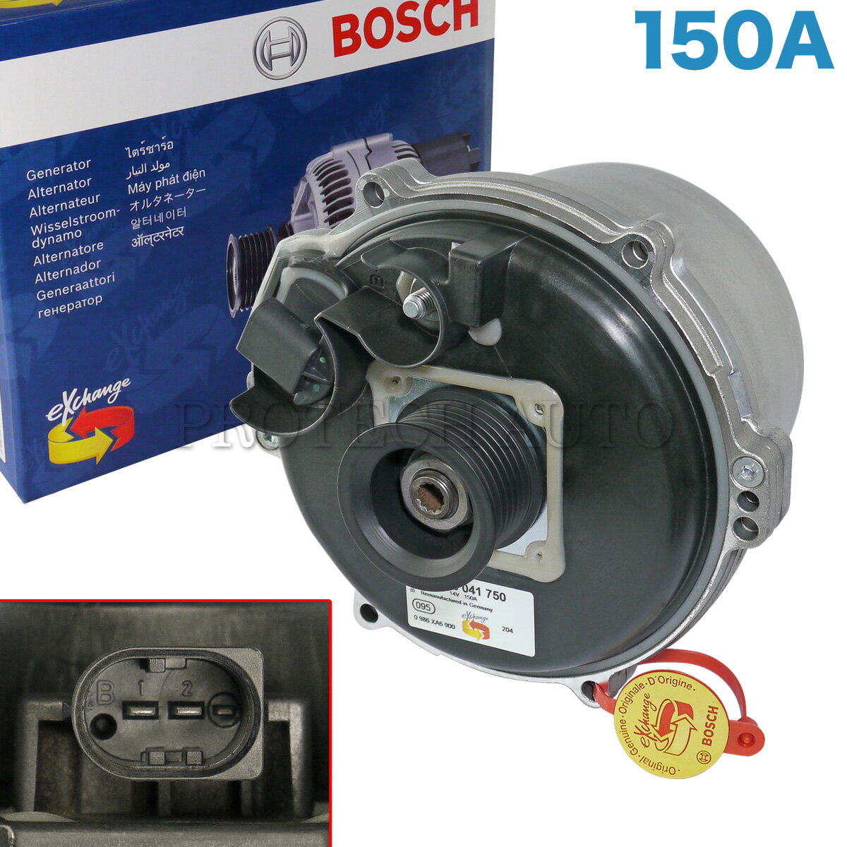BOSCH製 BMW E39 E38 X5/E53 水冷式 オルタネーター/ダイナモ 150A M62エンジン用 12317508054 12317705483 12317508052 540i 735i 740i 750iL L7 4.4i 4.6is【あす楽対応】