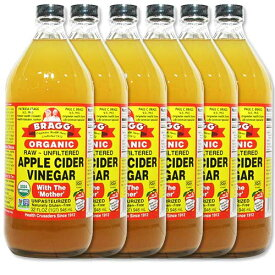 ブラグ オーガニック アップルサイダービネガー 946ml 6本セット りんご酢Bragg ORGANIC APPLE CIDER VINEGAR 946ml 6set[送料無料]