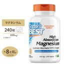 【送料無料】マグネシウム 高吸収型 240粒 Doctor's Best(ドクターズベスト)Mg/ミネラル/マグ/doctors/サプリ
