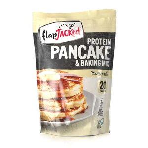 【送料無料】プロテイン入りパンケーキ&ベイキングミックス バターミルク 340g FlapJacked(フラップジャック)ホットケーキミックス パンケーキ バターミルク プロテイン