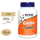 【送料無料】[SALE]ギャバ(GABA) + ビタミンB6 500mg 100粒 NOW Foods(ナウフーズ)
