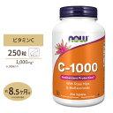 【送料無料】ビタミンC-1000 with ローズヒップ・バイオフラボノイド 1,000mg 250粒 NOW Foods(ナウフーズ)