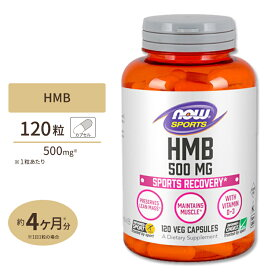 HMB 500mg 120粒 NOW Foods(ナウフーズ)