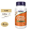 【送料無料】[目玉]アシドフィルス+ビフィダス 80億 120粒 NOW Foods(ナウフーズ)乳酸菌 プロバイオティクス
