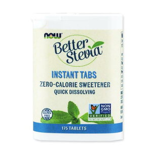 ベターステビア インスタントタブレット 175粒 NOW Foods (ナウフーズ)甘味料  砂糖フリー ダイエット 清涼飲料水