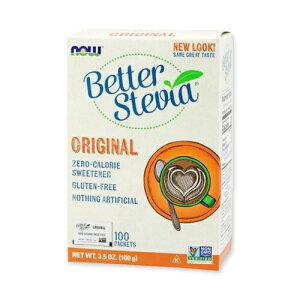 【送料無料】ベターステビア ゼロカロリー甘味料 オリジナル 100個入り NOW Foods(ナウフーズ)カロリー0/低カロリー/低GI/甘味料/砂糖