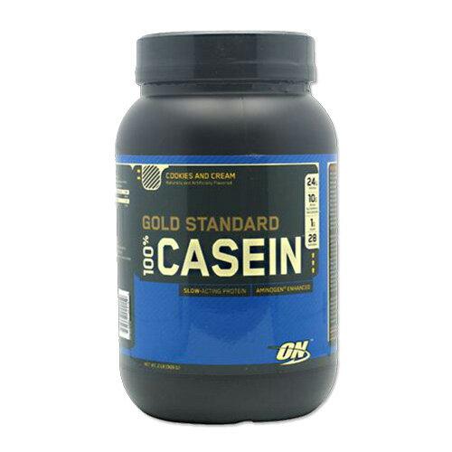 ゴールドスタンダード カゼインプロテイン クッキー&クリーム 909g Optimum Nutrition(オプチマムニュートリション)筋トレ/トレーニング/就寝/休み/タンパク