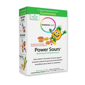 [送料無料]パワーサワーグミ マルチビタミン&ミネラル 30袋 Rainbow Light(レインボーライト)おやつ/健康/子ども/キッズ[季節限定商品]