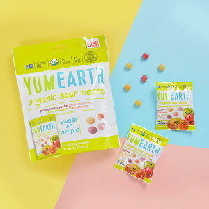 【クリアランスセール】YumEarth サワージェリービーンズ スナックパック 5袋 各20 g個包装/ヤムアース/オーガニック/ナッツフリー/グルテンフリー