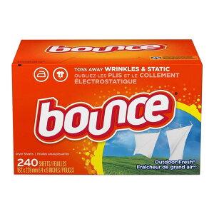 アウトドアフレッシュ ドライヤーシート (乾燥機用衣料柔軟剤) 240枚入り Bounce (バウンス)