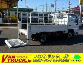 エルフトラック 10尺 平ボディー 一方開 高アオリパイプ 垂直リフト(いすゞ)【中古】