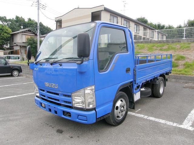 エルフトラック 2トン全低床 5MT3ペダル HSA ASR 延長アオリ(いすゞ)【中古】
