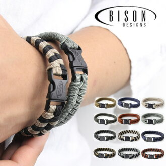 I work on it newly in BISON DESIGNS core reply side release double standard ground tone / bracelet outdoor Para cord spring and summer