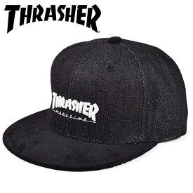 スラッシャー THRASHER SMALL MAG emb DENIM/CORDUROY CAP キャップ 帽子 コーデュロイ 平ツバ メンズ レディース