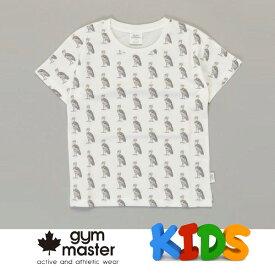ジムマスター tシャツ キッズ gym master ジムマスター Kid's ビッグペイント Tee G733303K ハシビロコウ Tシャツ 半袖 キッズ 丸首 子供服