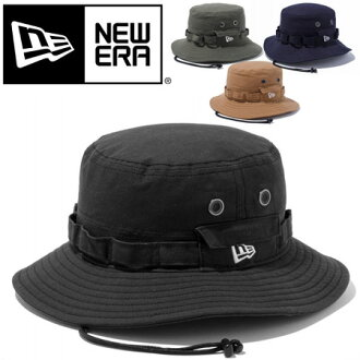 NEW ERA new era ADVENTURE DUCK COTTON Adventure Duck cotton Hat mens Womens Safari Hat FES UV machining tied UV cut UV fall fall winter mountaineering adventure Hat storage brim wide Safari 2013 mesh black.