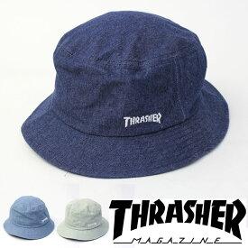 スラッシャー THRASHER ハット MAG LOGO デニムバケットハット 帽子 18TH-C06