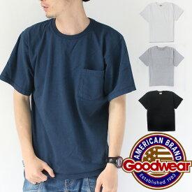 GOODWEAR グッドウェア 7.2oz CREW POCKET T-SHIRTS メンズ Tシャツ グレー/ブラック M/Lサイズ