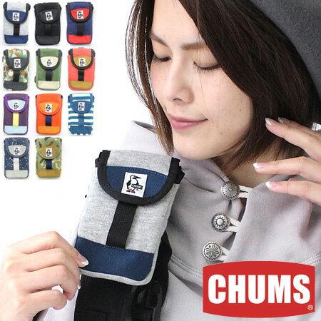 CHUMS チャムス Mobile Patched Case Sweat Nylon モバイルパッチドケーススウェットナイロン CH60-2364 スマホ ポーチ 山ガール ファッション かわいい フェス 野外フェス iPhone6,6S,7,7S,8対応