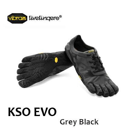 vibram fivefingers ビブラム ファイブフィンガーズ Men's KSO EVO Grey/Black メンズ 春 春夏 ランニング フィットネス ビブラム ファイブフィンガーズ Men's KSO EVO【メール便不可】