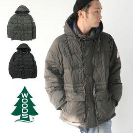 ダウンジャケット メンズ 大きいサイズ ウッヅ WOODS フード付き ダウン ジャケット Hooded Puffy Jacket 2C5-9824 アウター メンズ アウトドア 防寒 秋 冬 秋冬【お一人様1点限り】【返品交換不可】