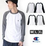 チャンピオンロングTシャツメンズベーシックChampionロングスリーブTシャツC3-P402M/L/XLサイズ