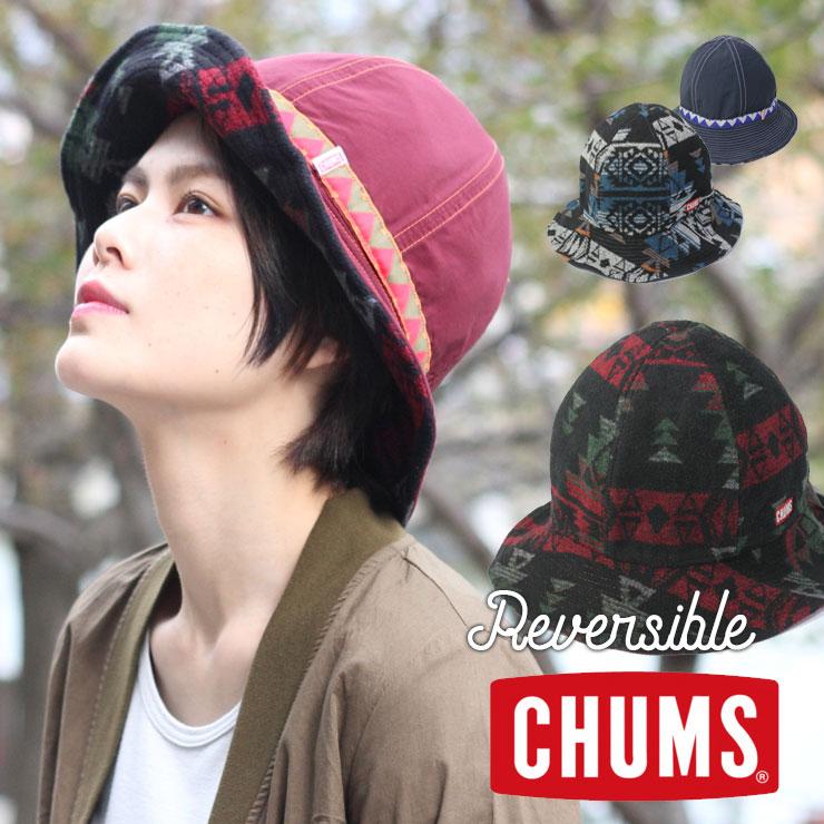 チャムス CHUMS 帽子 Reversible Print Hat リバーシブルプリントハット CH05-1141