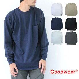 【送料無料】 グッドウェア Goodwear USAコットン 袖リブ BIG ポケット ロンTEE W7-5500