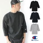 チャンピオンtシャツアメリカ製メンズ七分袖ChampionフットボールTC5-P405