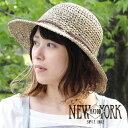 NEWYORKHAT ニューヨーク 麦わら帽子 ストローハット レディース ガーデニング おしゃれ ネコポス