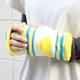 【あす楽】ゆるフワアームウォーマー 手袋 フィンガーレス グローブ レディース メンズ アウトドア 山ガール ファッション 【メール便可】